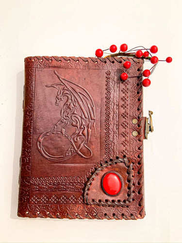 Leather Journal with Embossed Dragon | Star Soul Metaphysics