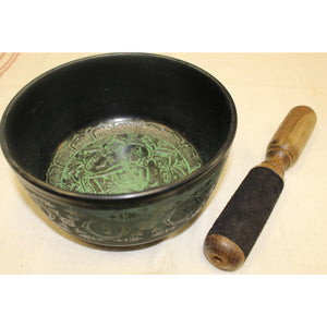 "Singing Bowl 6"" Green-Tara 