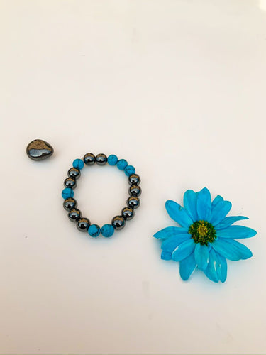 Hematite and Turquoise Bracelet | Star Soul Metaphysics