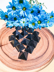 Black Obsidian Pyramid 1"