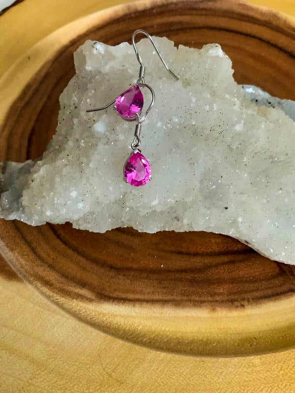 Pink Tourmaline Earrings | Star Soul Metaphysics