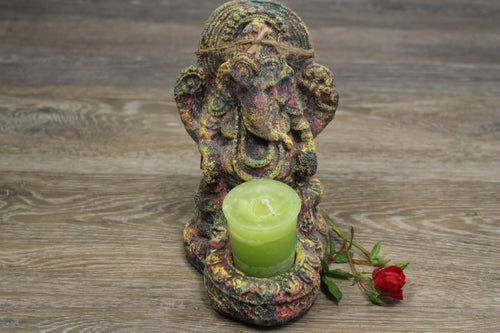 Ganesha Statue and Candle Holder | Star Soul Metaphysics