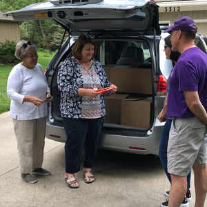 Sharing with students in need for back-to-school