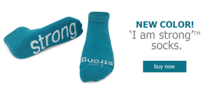 new i am strong crew socks in teal