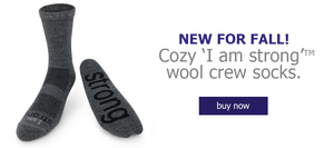 new i am strong wool crew socks