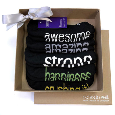 black themed kraft gift set 5 pair