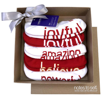 red themed kraft gift set 5 pair