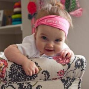 Pink 'I am a blessing'™ positive affirmation BABY headband