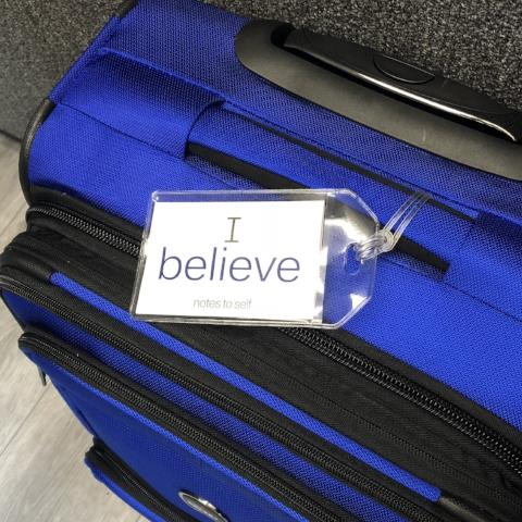 'I believe' + 'I have faith'™ luggage tag