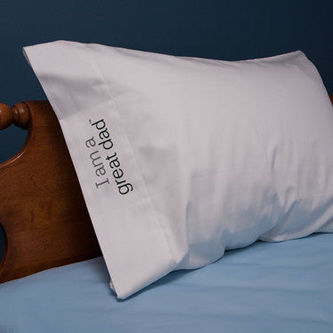 'I am a great dad'™ positive affirmation pillowcase