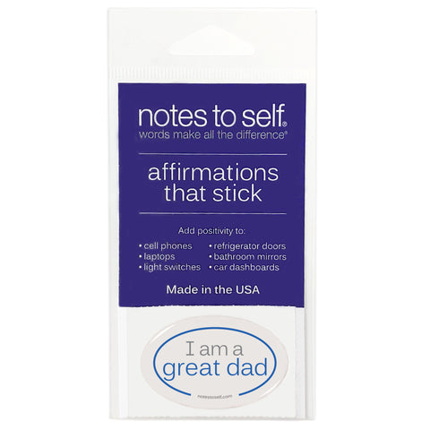i am a great dad puffy sticker affirmations that stick