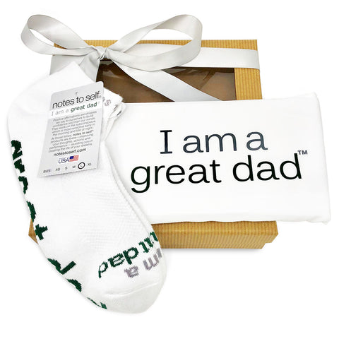 gift set for men i am a great dad pillowcase i am a great dad socks in gift box
