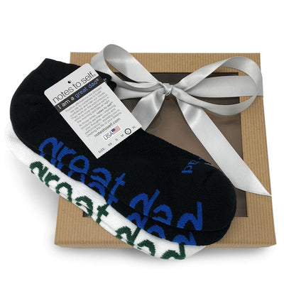 sock gift set for him i am a great dad socks in white and black