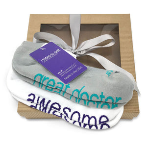 sock gift set i am a great doctor socks i am awesome white socks in gift box