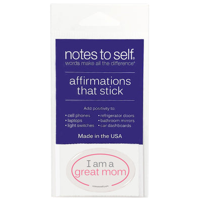 i am a great mom puffy sticker affirmations that stick