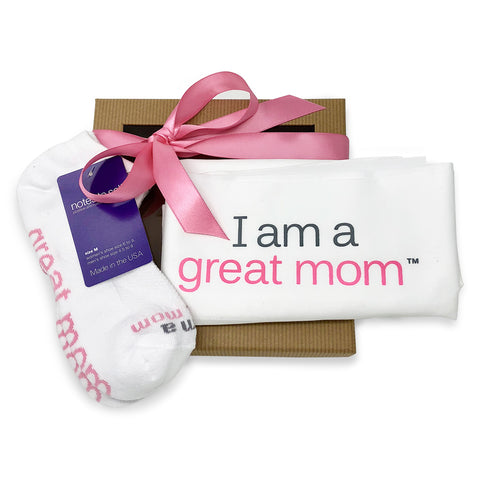 gift for mom i am a great mom pillowcase i am great mom socks in gift box