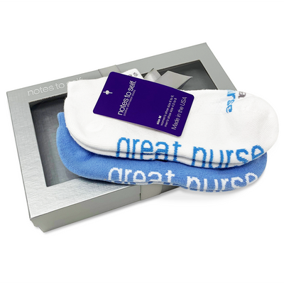 i am a great nurse 2 pair gift set in silver box with satin ribbon
