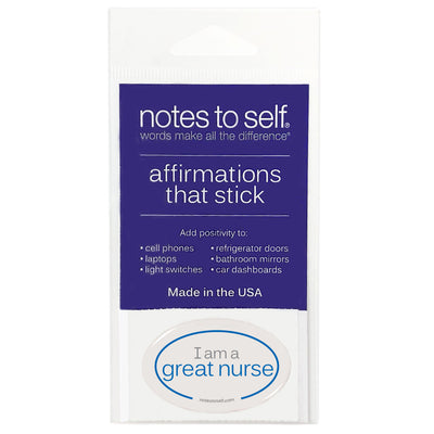 i am a great nurse puffy sticker affirmations that stick