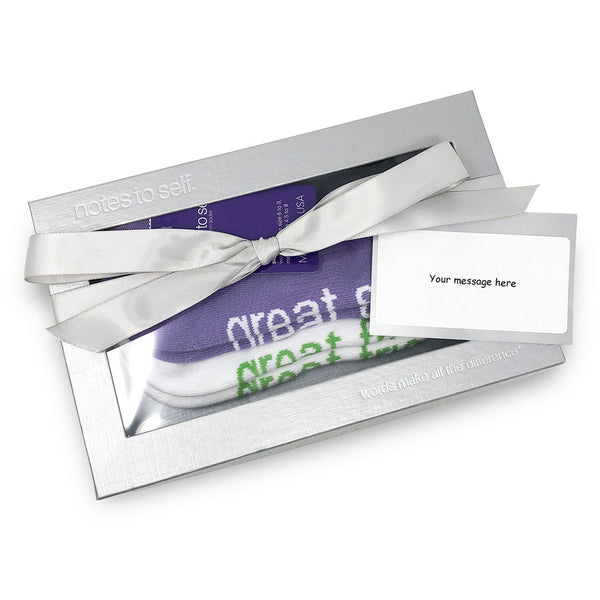 i am a great sister i am a great friend sock gift set with card