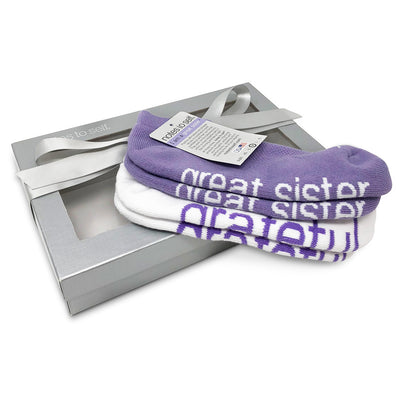sock gift set for women i am a great sister socks i am grateful socks in silver box