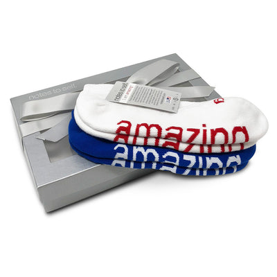 sock gift set i am amazing socks in silver gift box