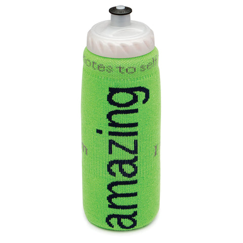 i am amazing water bottle cover with positive message