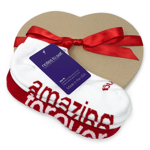 i am amazing i love you forever sock gift set