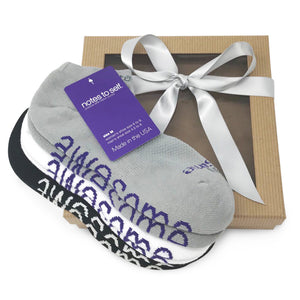 sock gift set 3 pair i am awesome socks in gift box
