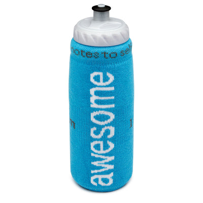 i am awesome aqua blue water bottle cover