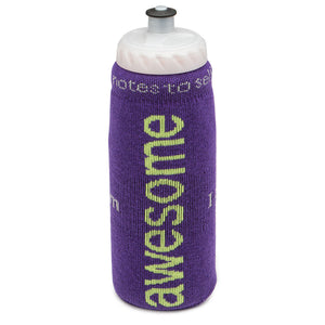 i am awesome purple water bottle cover