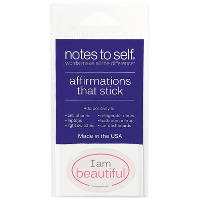 i am beautiful puffy sticker affirmations that stick
