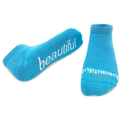 i am beautiful aqua socks for women