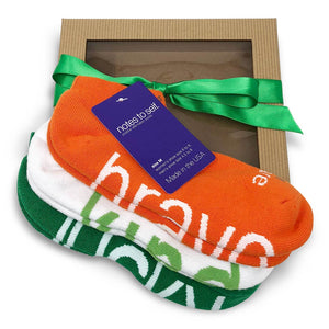 i am brave i am kind i am lucky sock gift set in gift box