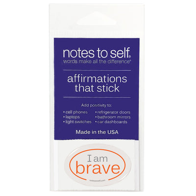 i am brave puffy sticker affirmations that stick