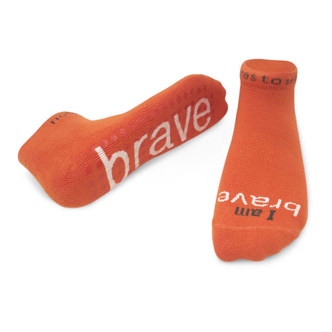 i am brave socks with no slip grips