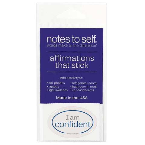 i am confident puffy sticker affirmations that stick