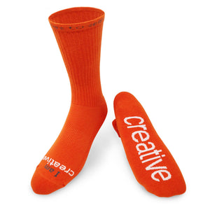 i am creative crew socks with inspirational words