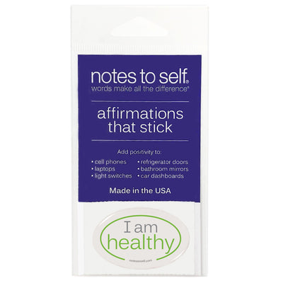 i am healthy puffy sticker affirmations that stick