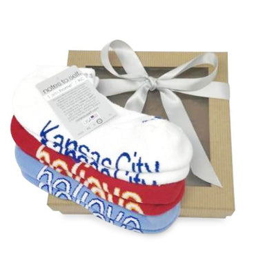 kansas city sock gift set i am home kansas city socks i believe sock in red and blue in gift box