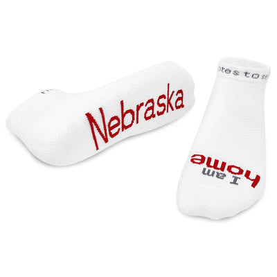 i am home Nebraska socks