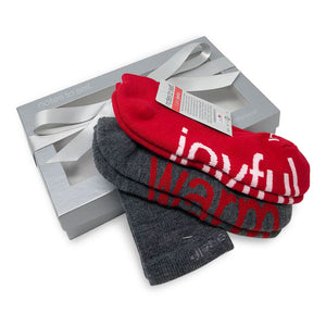 i am joyful i am warm socks sock gift set in silver box