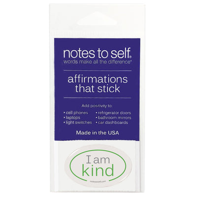 i am kind puffy sticker affirmations that stick