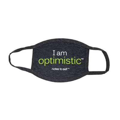 i am optimistic face cover 3 ply with positive affirmations