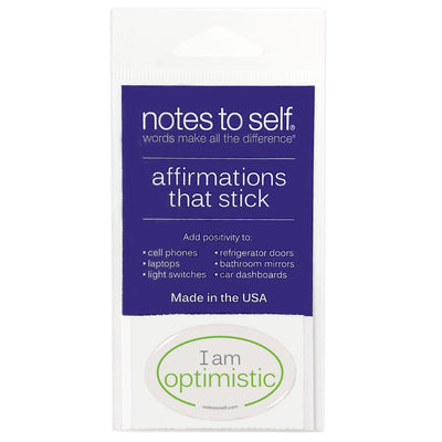 i am optimistic puffy sticker affirmations that stick