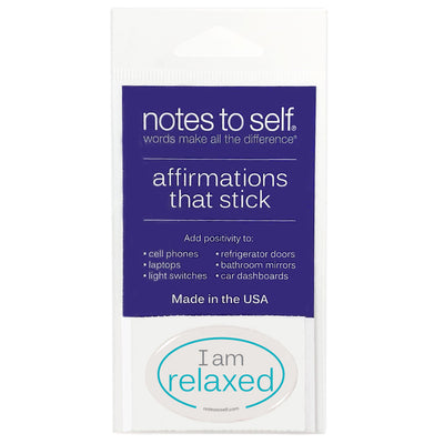 i am relaxed puffy sticker affirmations that stick