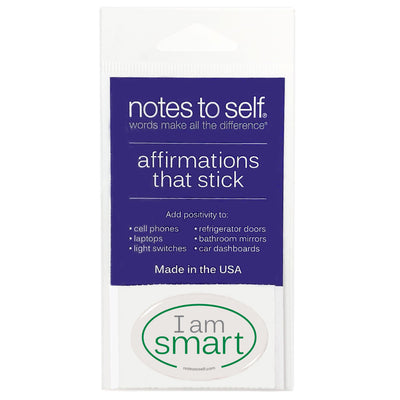i am smart puffy sticker affirmations that stick