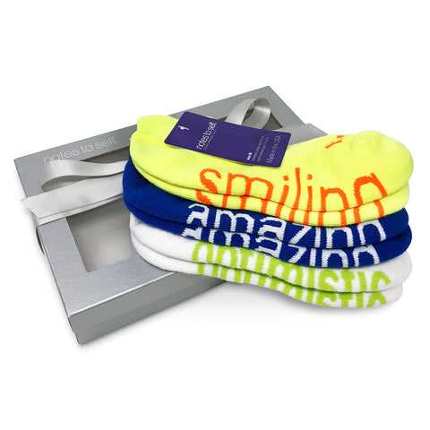 sock gift set iam smiling socks i am amazing socks i am optimistic socks in gift box