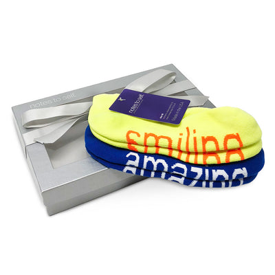 sock gift set i am smiling yellow socks i am amazing blue socks in gift box