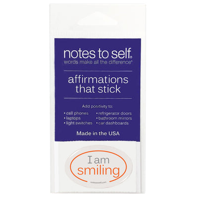 i am smiling puffy sticker affirmations that stick