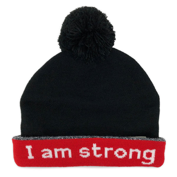 i am strong beanie hat with hidden message